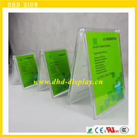 Dazzling Displays Acrylic 5 x 7 Slanted Sign Holders