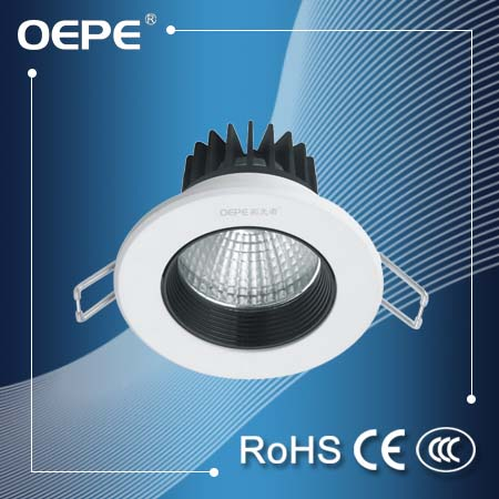 New products 2016 led downlight flat round surface material brushed black 7w led recessed ceiling light downlight