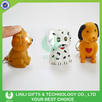 Promotion Customized Logo Plastic Led Sound Dog Keyring