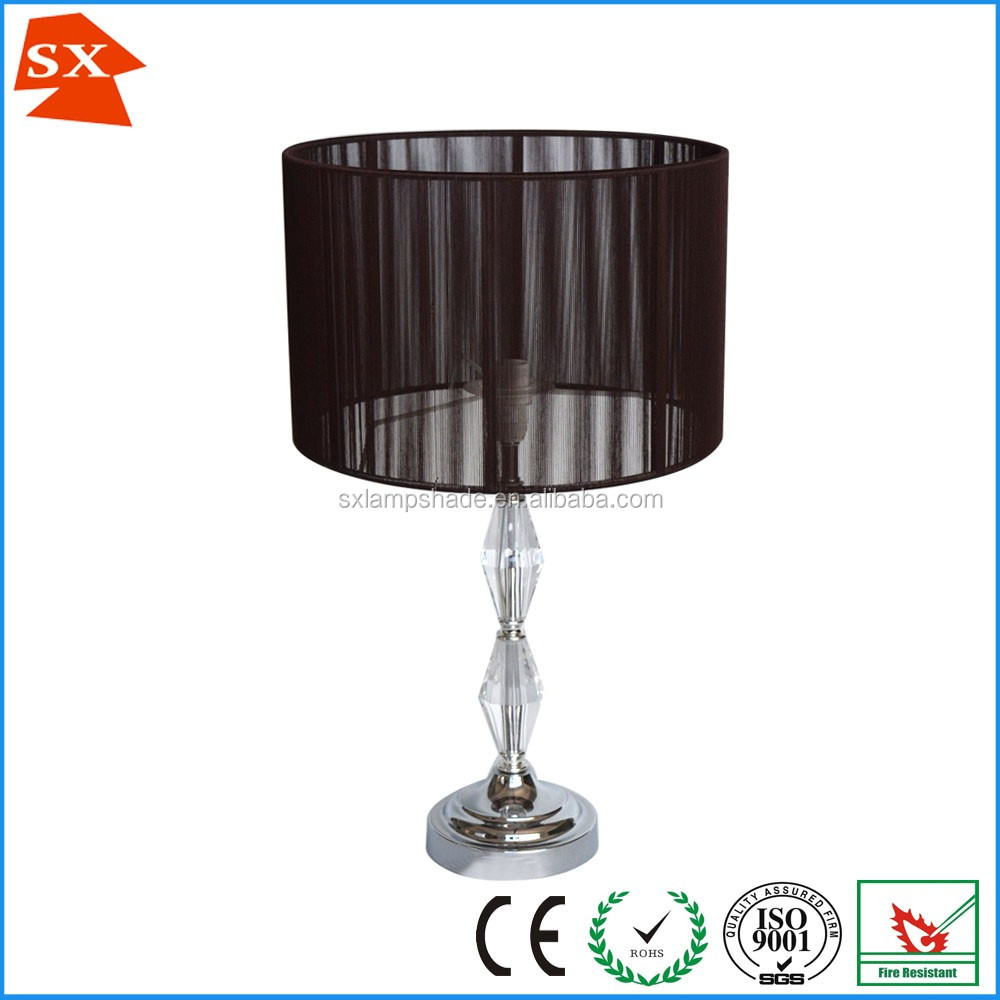 Modern home decors bedroom nightstand acrylic metal easy fit table lamp