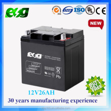 Rechargeable AGM battery 12V 26AH Sealed lead acid battery for UPS