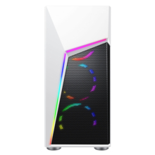 Y01 2019 Attractive 210mm width White chassis pc with RGB Strip Lights/custom White  Metal Mesh pc cabinet computer case