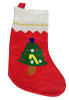 Christmas tree kids gift stocking for home decoration