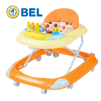 Hotsale soft seat new model 8 wheels rotating simple baby walker