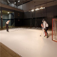 High density synthetic ice rink surface panels