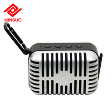 New product music player SD card hands-free function mini metal record bluetooth speaker
