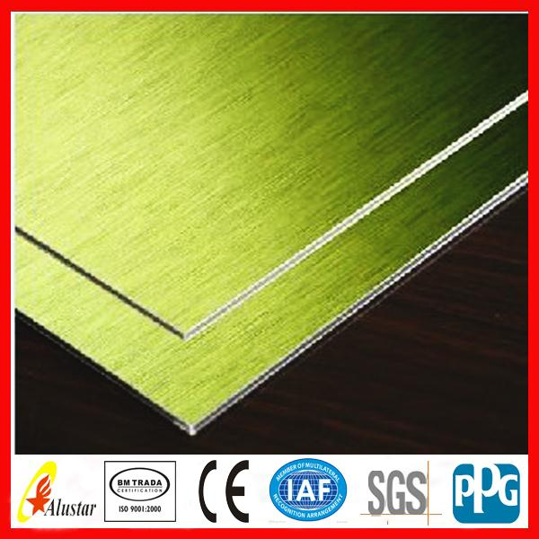Hot selling 1250 mm width aluminum composite panel with certification