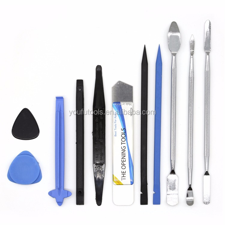 11 pcs opening repair tool spudger metal pry bar ultra-thin pry tool set for mobile phone