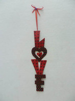 LOVE metal sign valentines day decorations wall plaque