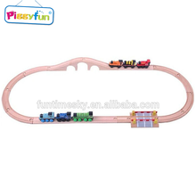 Kid toy wooden toy high quality wooden scrap train rail AT11656