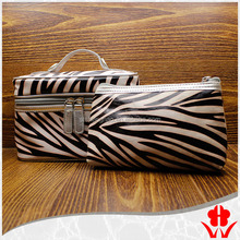 Leather Zebra Stripe Cosmetic Bag For Purse Cosmetic Bag Accessories Pouch For Couple