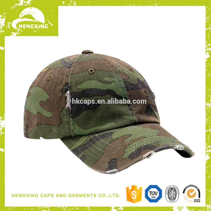 washed unstructured camouflage military baseball cap hats wholesale suppliers china