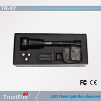 Led high power spotlights TrustFire X7 police security led flashlight, high lumen 1000m long range Led personal defence light