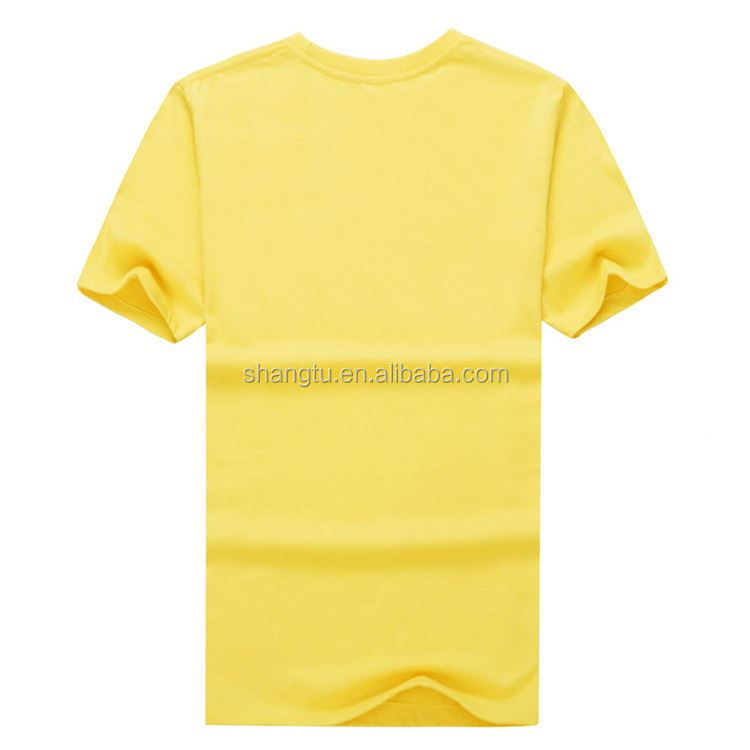 New arrival blank white design 100% cotton round neck custom t-shirt printing