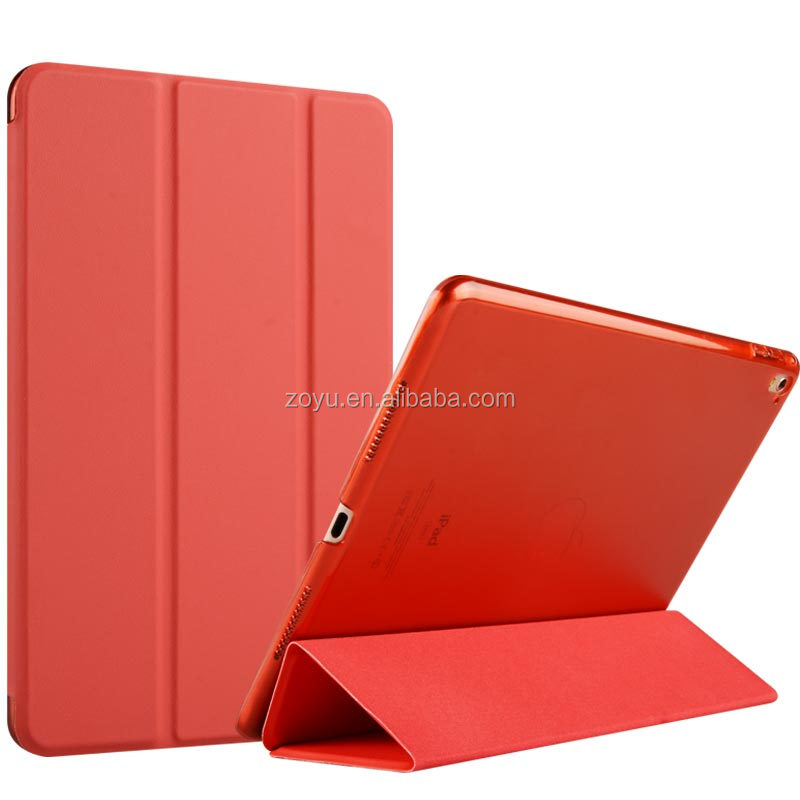 Manufacturer Auto Wake Up Flip Cover Silk Pattern Leather Case for iPad Pro Tablet