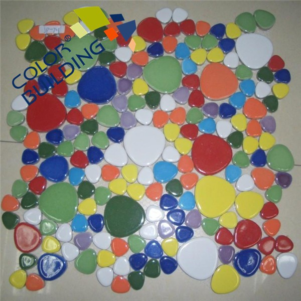 Glazed colorful ceramic mosaic glazed mosaic colors swimming pool floor