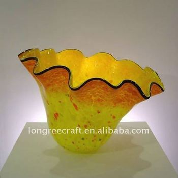 Italy Murao Glass Art Decor Bowls Chihuly Style Colorful Glass Bowls for Galley -LRT136