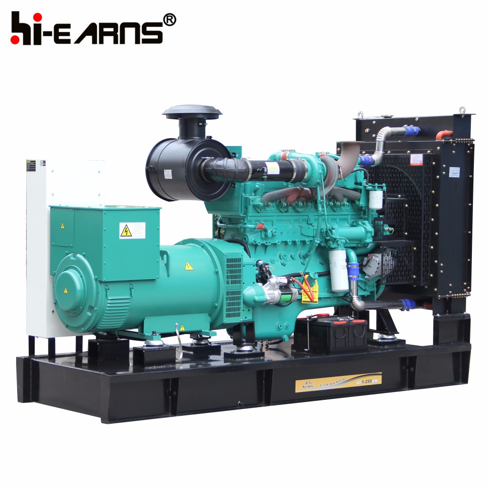 diesel power water-cooled open frame type 250KW generator electricity generator