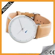 vogue leather strap cuatom made slim mens watch chronograph