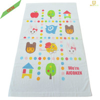 Bulk White Printed Baby Towel Fabric Bath Sheet