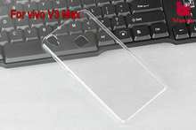 Transparent hard back cover cellphone cover for Vivo V3 max cell phone case