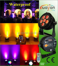 Party decorations 6X12w wireless slim led par 64 stage light / Rechargable wireless smart waterproof par can