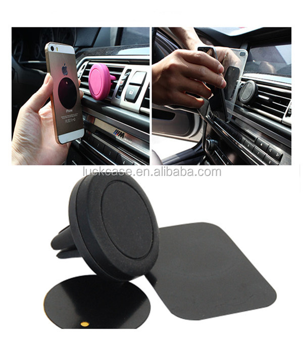 Factory Price Car Mount Adjustable Silicone Magnetic Air Vent Clip Grip Phone Holder Stand and Tablet GPS Holder