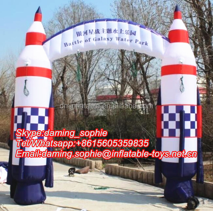 Customized Inflatable Rocket Arch Entrance for Outdoors Advertising