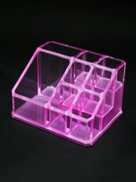 Trapezoid Violet Acrylic Packaging Lipstick Storage Box