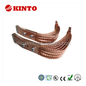 Tin or bare flexible braid copper connector