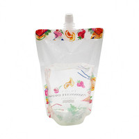 100Ml 250Ml 500Ml Plastic Transparent Water Liquid Soft Drinks Stand Up Spout Pouch With Nuzzle For Climbing Walking