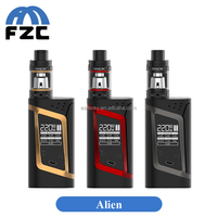 Alibaba Express Top Selling Vape Mod Authentic Smok Alien 220W TC Mod Huge Vapor Smok Alien with 3ml TFV8 Baby Tank