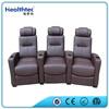 Genuine Leather Cinema Sofa With 3 Seats And Drink Refrigeration