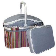 hot selling portable large Double Compartment Picnic Insulated Cooler Bag