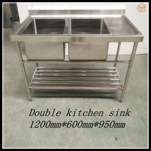 Heavy Duty fiber kitchen sink double bowl kitchen sink custom size kitchen sink