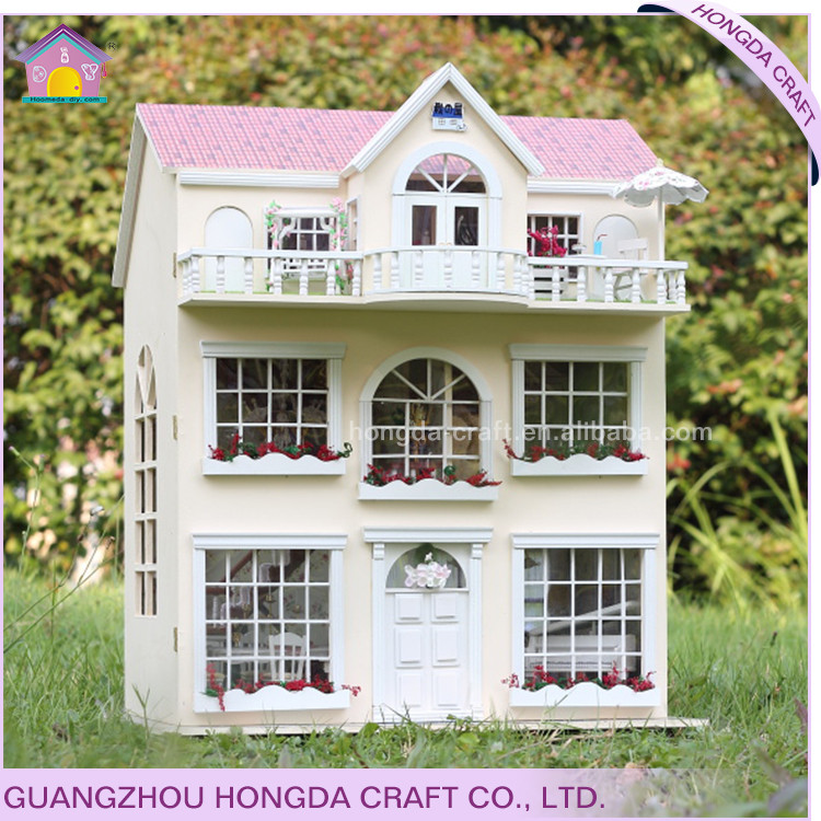Supply to chain bookstore building miniature goods diy wooden kids tool kit doll house extra large