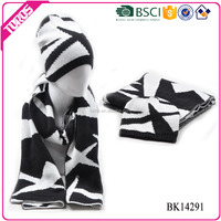 TOROS wholesale high quality warm hat and scarf winter knit hat and scarf for men