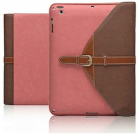 Luxury Retro 360 Degree Rotating Belt Flip Leather Stand Case for iPad Air