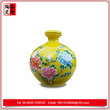 yuqi porcelain floral vase hand painted bottle vase