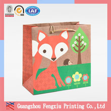 Low Price Fashion Design Pantone Color Printing Kraft Paper Bag