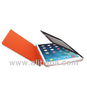 PU leather Tablet PC case with screen privacy protector for iPad air