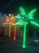 Hot Sale! 3m realistic artificial outdoor lighted led palm coconut tree