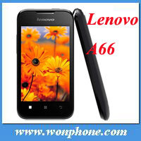 "3.5"" Original Lenovo A66 Android2.3 MTK6575 GPS WiFi Bluetooth TF FM 2G Triband 3G WCDMA 8MP Unlocked android Phone"