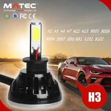 MATEC Factory Price Car Led Lighting Headlight Kit h1 h3 h4 h7 h11 h13 9005 9006 12v Auto Headlights For Mazda6