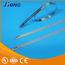 trade manager for mobile spiral wrapping bands flexible ladder type stainless steel cable tie with Multi Lock Type