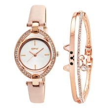 Engraved bracelets wholesale ladies wrist watch match rose gold bangles cat Bracelet For lady Watch