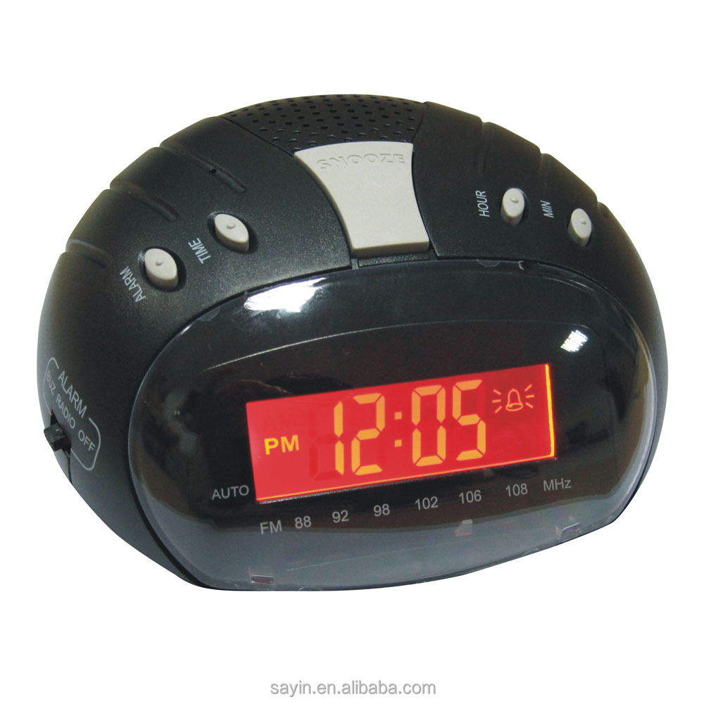 SY-430 novelty FM alarm clock radio with LCD display for promotion gift