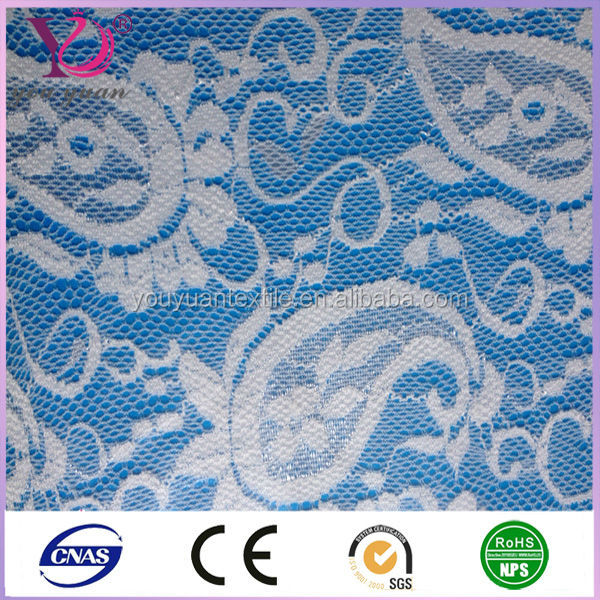 discount luxurious high quality customized style royal blue lace fabric