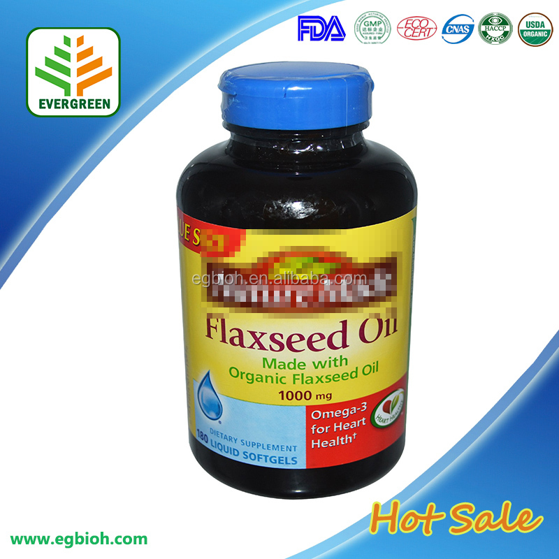Linseed /Flaxseed Oil 500 mg 50 Capsule Organic Food supplement