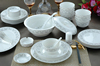 Haonai elegant hotel/restaurant/home supplies ceramic/porcelain/bone china dinnerware set